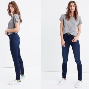 """Madewell 10"""" High Rise Skinny Jeans Blue Size 28"""